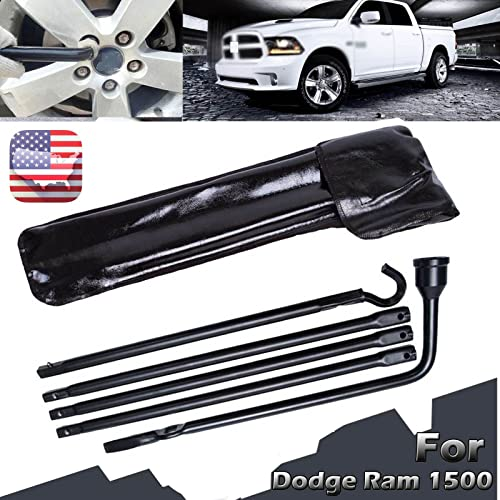 2021 Bowoshen online sale for wholesale Dodge Ram 1500 2002-15 Spare Tire Tool Kit Lug Wrench Set Carbon Steel with Black Carry Case online