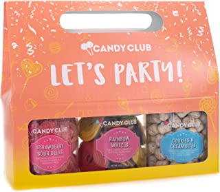 Let's Party Orange 17 ounce Strawberry Sour Rainbow Wheel Candy Assortment