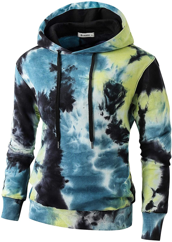 Minneapolis Mall KLIEGOU Mens Tie-Dye Sweatshirt Hooded Pullover Max 81% OFF