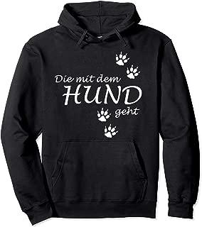 Die mit Wunschname läuft  Hunde Sweater Hoodie Kapuzensweatshirt Hund Pullover