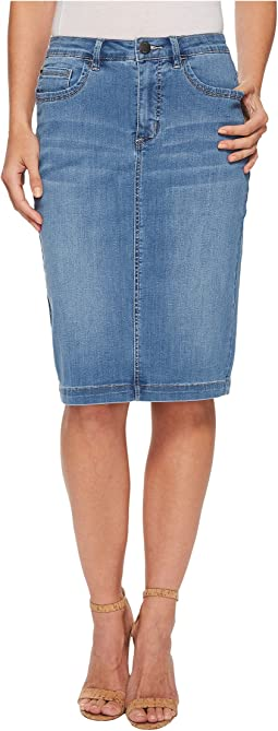Coolmax Denim Pencil Skirt
