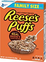 General Mills Peanut Butter Puffs, Cereal, Family Size, 20.7 oz Box