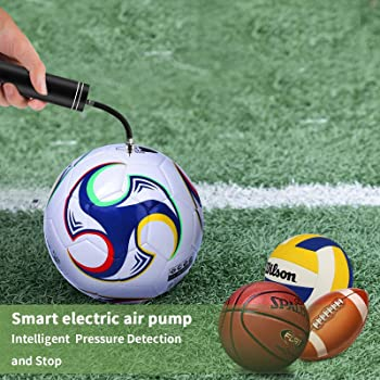 Automatic Electric Fast Ball Pump with Needle and Nozzle - Air Pump for Inflatables, Athletic Basketball, Soccer, Vol...
