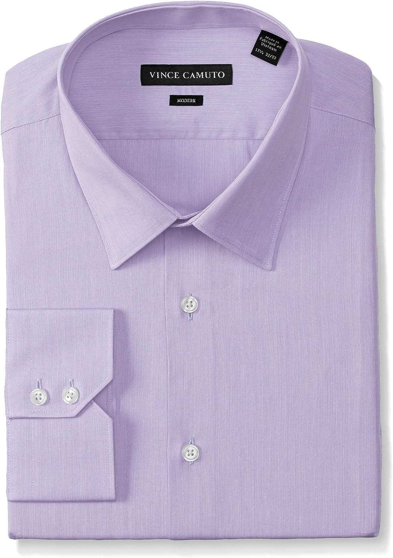 Vince Camuto Mens Pincord Modern Fit Dress Shirt Dress Shirt