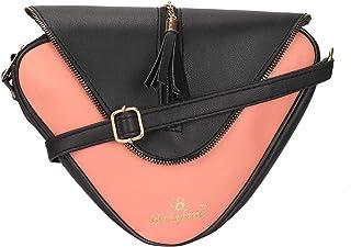 Brisfine Cross-body Sling Bag For Women Black & Peach Color Fashionable Sider