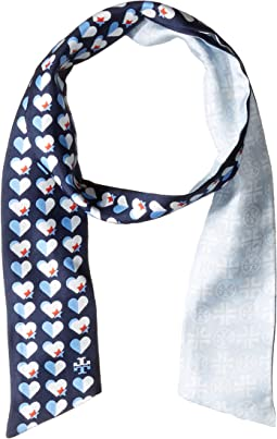 Heart Star Silk Necktie