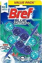 Bref Blue Active Eucalyptus, Rim Block Toilet Cleaner, 2x50g, 100 grams