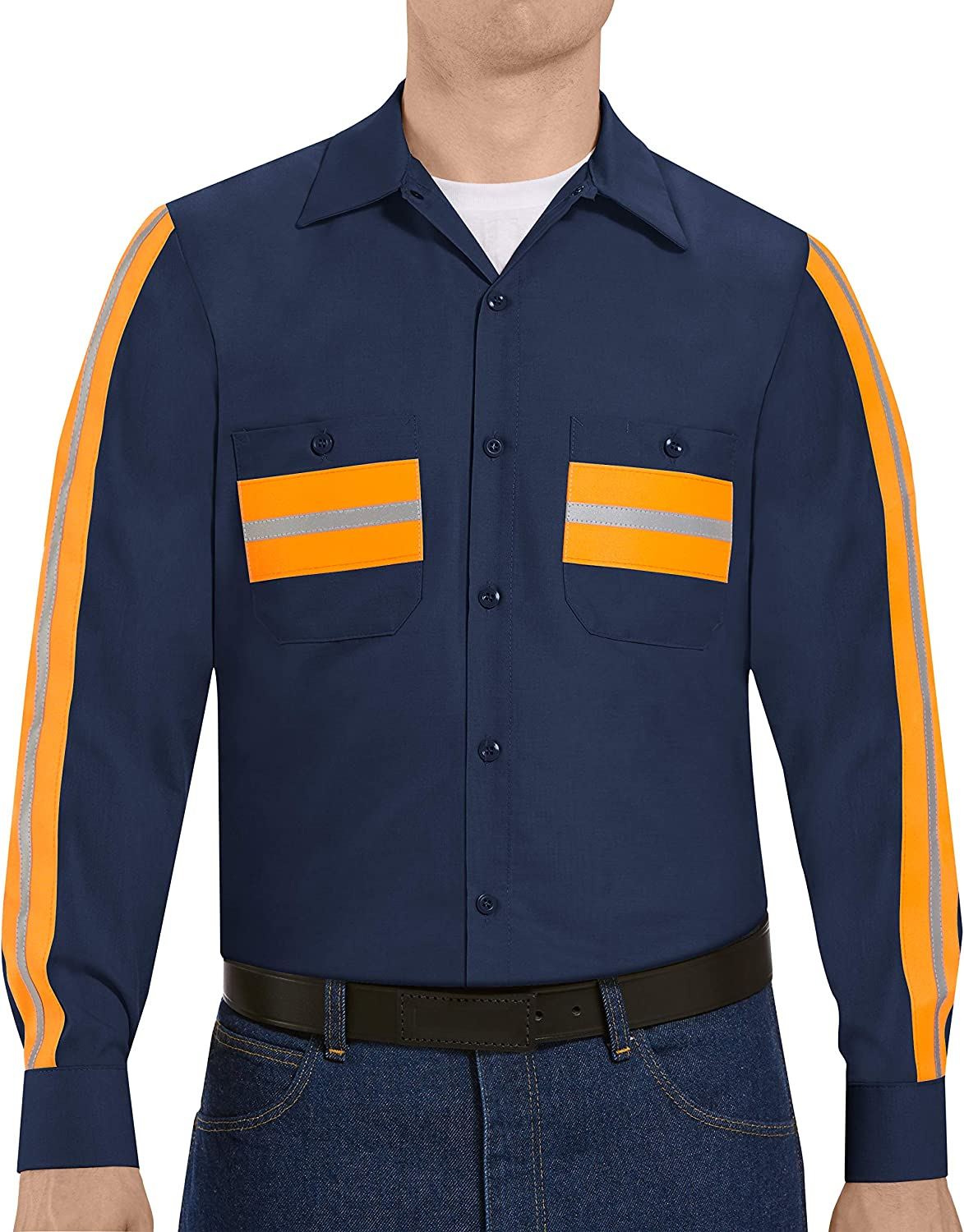 Red Kap Men's Enhanced Visibility Sh OFFicial mail Limited price order Sleeve Industrial Long Work