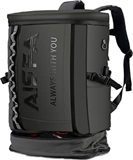 AISFA リュック メンズ リュックサック バックパック スクエア リュックサック 全撥水加工 防水15.6インチ PC ビジネスリュック ラップトップバック 2層式 拡張機能大容量 bag 靴/弁当収納 スクエア リュック USB充電ポート...