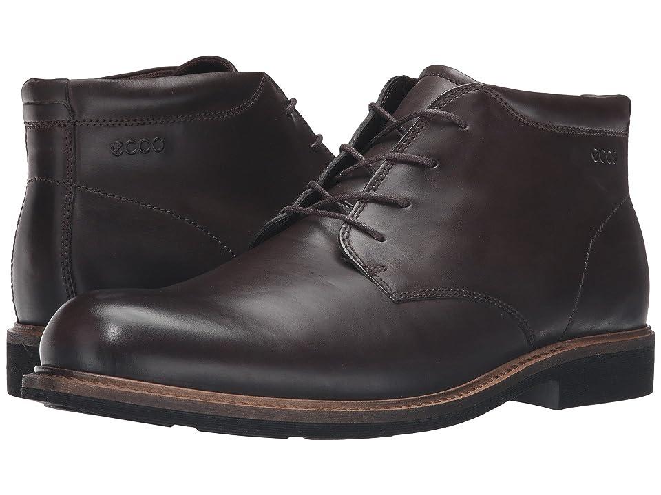 ECCO Findlay Plain Toe Boot (Coffee) Men