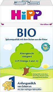 Hipp 喜宝1段奶粉 Bio, 0-6个月, 4盒装 (4 x 600克)