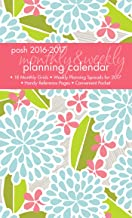Posh: Breezy Blooms 2016-2017 Monthly/Weekly Planning Calendar (Desk Diary)