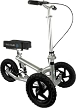 KneeRover PRO All Terrain Knee Scooter with Shock Absorber – Silver