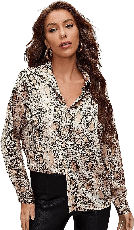 Milumia Women's Plaid Button Down Shirt Collar Long Sleeve Drop Shoulder Blouse Tops