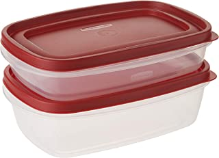 Rubbermaid 5.5 Cup and 8.5 Cup Easy Find Lid Containers Value Pack