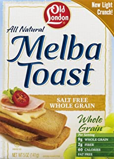 Old London Melba Toast Unsalt Whole Grain, 5 oz