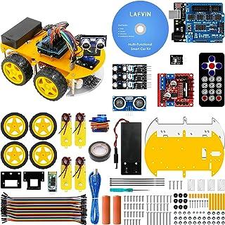 Sponsored Ad - LAFVIN Smart Robot Car Kit Include Ultrasonic Sensor, Bluetooth Module,R3 Board Compatible with Arduino IDE...