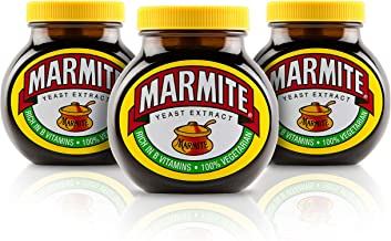 Marmite Yeast Extract Paste in a Glass Jar 500 g (Pack of 3)