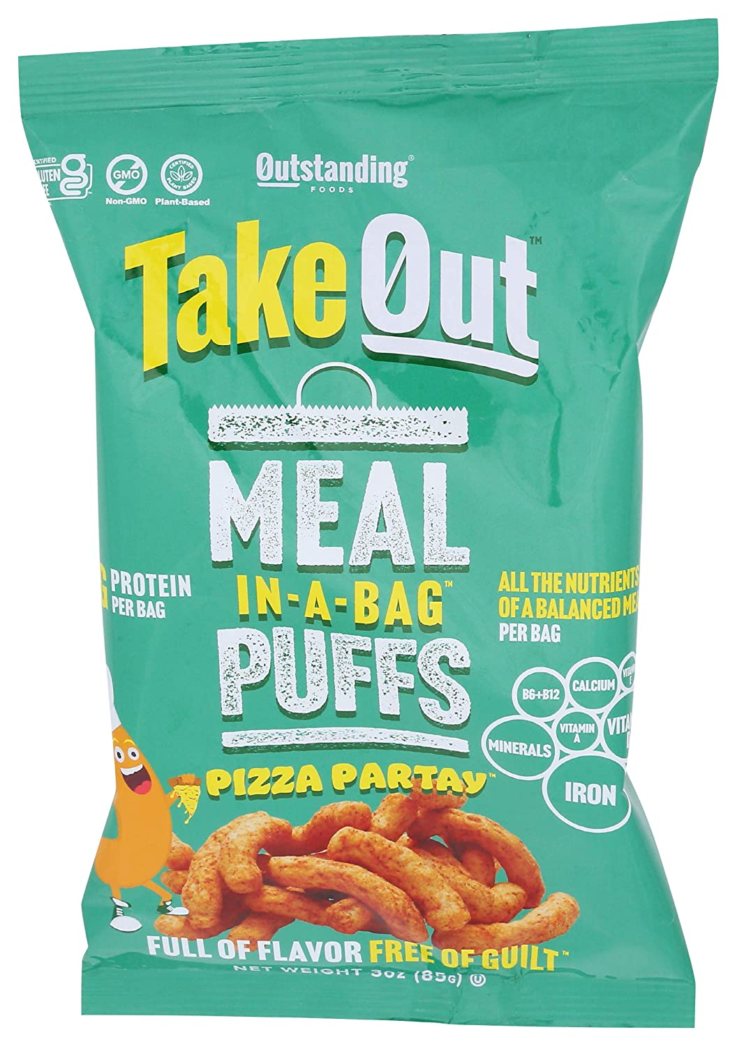 Outstanding Foods Meal In A Bag Pizza Partay Puffs, 3 OZ