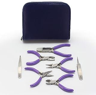 Beadsmith 7-Piece Jewelry Pliers Set with Case, Mini