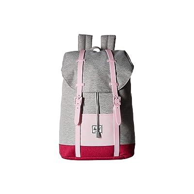 Herschel Supply Co. Kids Retreat Youth (Little Kids/Big Kids) (Light Grey Crosshatch/Very Berry Crosshatch/Pink Lady Crosshatch) Backpack Bags