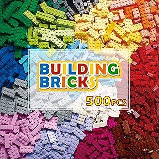 PANLOS STEM Building Bricks Kit Classic Colors 500 Pieces...