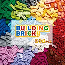 PANLOS STEM Building Bricks Kit Classic Colors 500 Pieces Building Blocks Toys-Compatible with All Major Brands