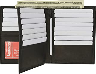 Bifold Genuine Leather RFID Blocking Wallet For Men Card Slots, 2 Bill Compartments, ID Windows, Money,
