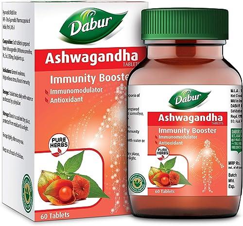Dabur Ashwagandha Tablet Immunity Booster Rich in Anti Oxidants 60 tablets