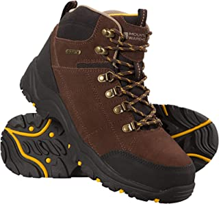 Mountain Warehouse Botas Impermeables Boreal para Hombre - Resistentes a la Lluvia, de Ante y Malla - Suela Exterior de Goma - para acampadas, Alpinismo, Trabajo