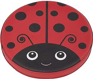 ECR4Kids SoftZone Ladybug Seating Cushions, 13.5 inch Diameter, Alternative Flexible Seating, Floor Cushions for Kids, 4-Pack