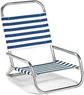 Telescope Casual Sun and Sand Folding Beach Chair, Blue/White Stripe (73313601)