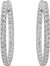 Olivia Paris 14k Gold 1 Carat cttw Round Brilliant Diamond Hoop Earrings (H-I, SI2-I1) 1