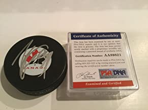 Autographed Steven Stamkos Hockey Puck - Team Canada COA 1A - PSA/DNA Certified - Autographed NHL Pucks