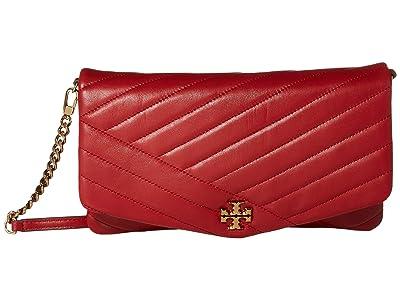 Tory Burch Kira Chevron Clutch (Red Apple) Handbags