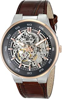 Kenneth Cole New York Men's KC8047 Automatic Analog Display Japanese Automatic Brown Watch