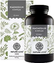 NATURE LOVE® Magnesium Komplex - 400mg elementares Magnesium je Tagesdosis. Magnesiumcitrat, Magnesiumoxid, Magnesiumbisglycinat, Magnesiummalat, Magnesiumscorbat. Vegan, hochdosiert, Made in Germany