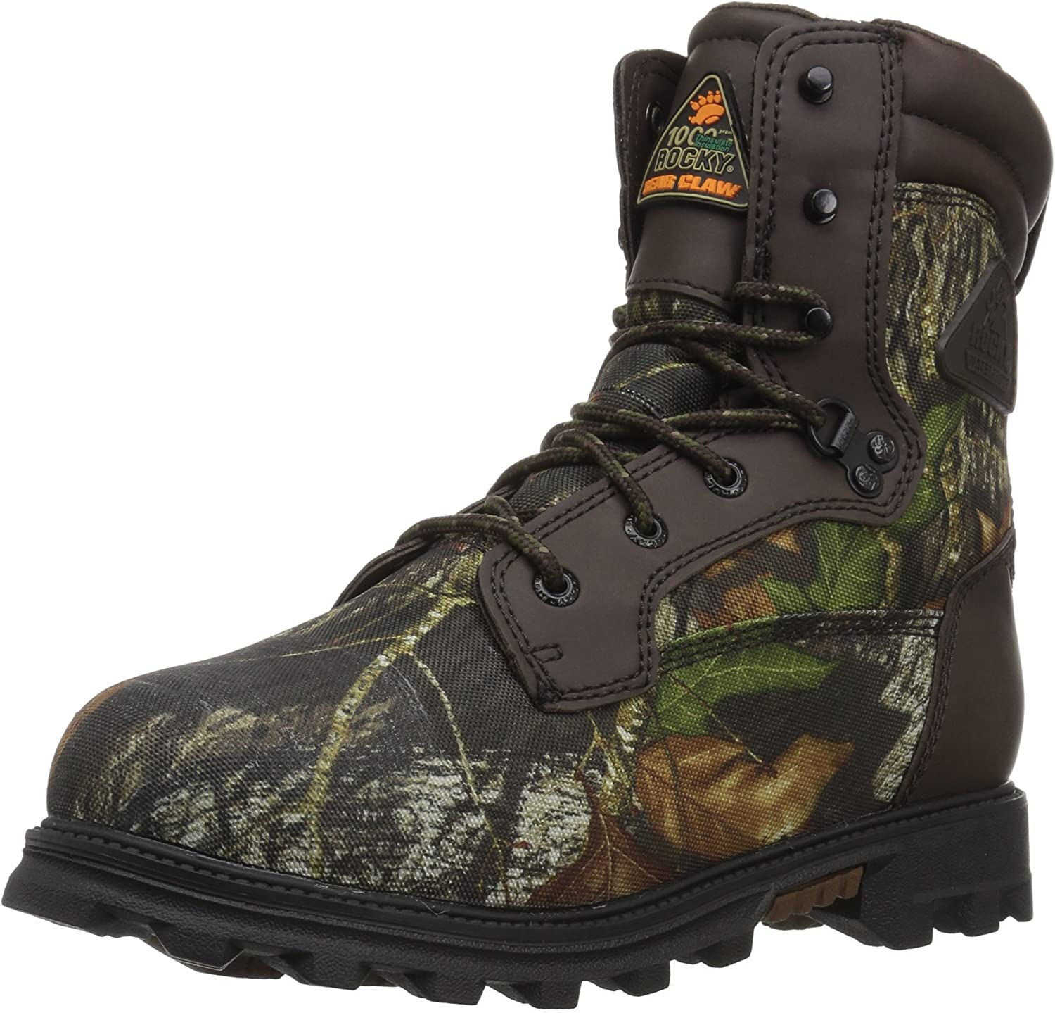 Boys' Rocky BearClaw 3D 1000 - gram Insulated Waterproof Boots Mossy Oak Break - up