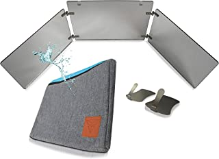 "GAT Trifold Mirror - 3 way mirror used for Self Hair Cutting, Fogless Shaving in the Shower, Makeup, Hair styling and Coloring. The perfect travel mirror. G.A.T. -""Go Anywhere Tri fold"" by Viribus."
