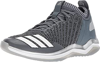 adidas Men's Freak X Carbon Mid Baseball Shoe, Onix/White/Metallic Silver, 10 Medium US