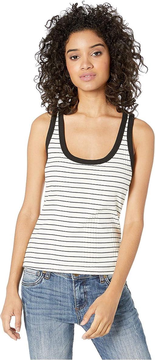 Black/Natural Stripe