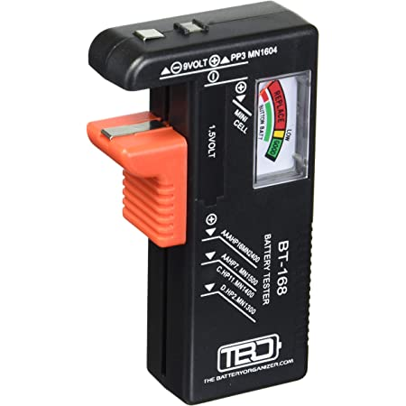 58bh Batterie-Organizer Schwarz BT-168 LCD-Batterietester f/ür insgesamt 98 Batterien 35 x 18 x 5 cm