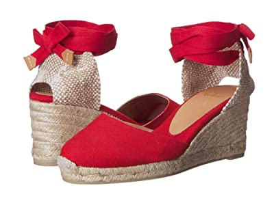 CASTANER Carina 60mm Wedge Espadrille (Rojo Rubi) Women