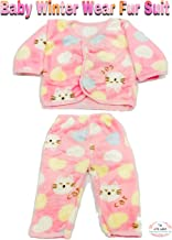 THE LITTLE LOOKERS® Premium Quality Soft Feel Top and Pyjama Set for New Born Babies/Infants/Toddlers (0-3 Months) Print May Vary (Pink)