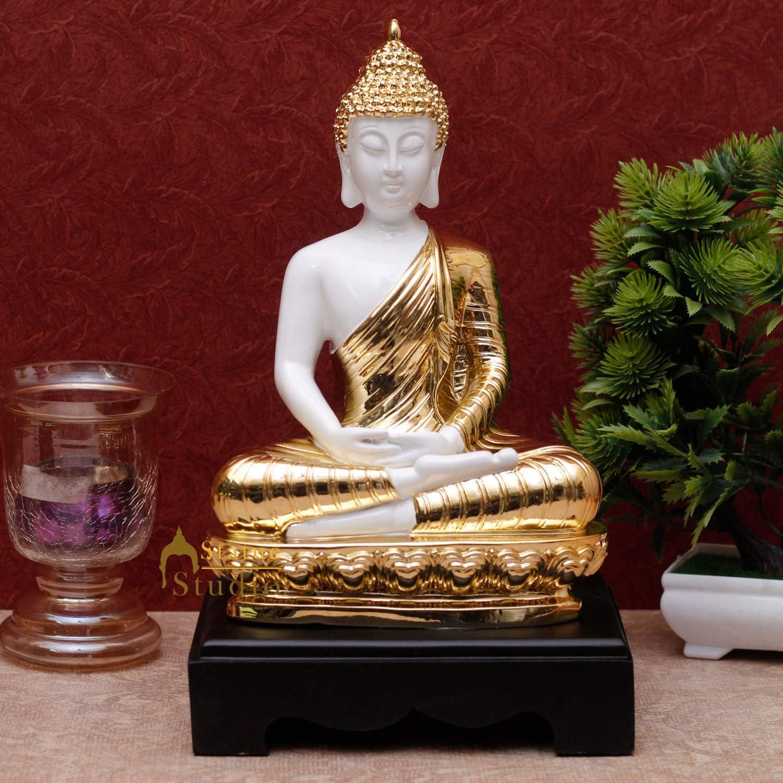 Statuestudio Meditating Sitting Buddha Statue for ストアー 12 2020 新作 Decor Home