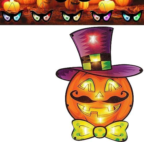lowest Twinkle Star sale Halloween Flashing Eyes String Lights | Pumpkin sale Window Silhouette Decoration sale