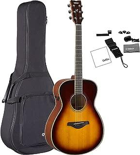 Yamaha FS-TA BS TransAcoustic Concert Acoustic-Electric Guitar Brown Sunburst with FREE Premium Gig Bag, Tuner, Strap, Guitar Picks, String Winder, and Polishing Cloth
