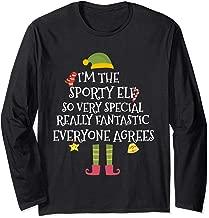 I'm The Sporty Elf TShirt Matching Family Group Christmas Long Sleeve T-Shirt