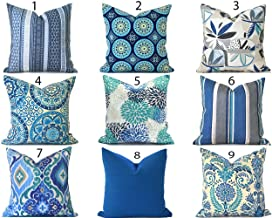 Decorative Throw Pillow Cover You Choose Any Size Cadet Blue