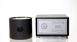 Scents of Sicily Lipari –(ylang ylang) 18 oz black glass candle